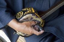 Le sanshin, instrument de Musique en peau de serpent d'Okinawa, défie le temps