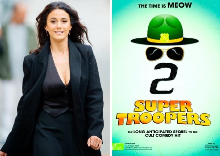"""Emmanuelle Chriqui à l'affiche de """"Super Troopers 2"""""""