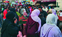 La population du Maroc avoisinait les 34 millions d'habitants en 2014