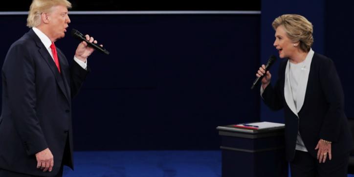 Les sondages donnent Hillary Clinton victorieuse à l'issue du débat avec Trump