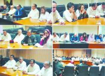 Réunion du Premier secrétaire avec les membres des Groupes socialistes au Parlement