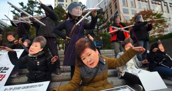 """La """"Raspoutine"""" sud-coréenne au centre d'un scandale politique en Corée du Sud"""