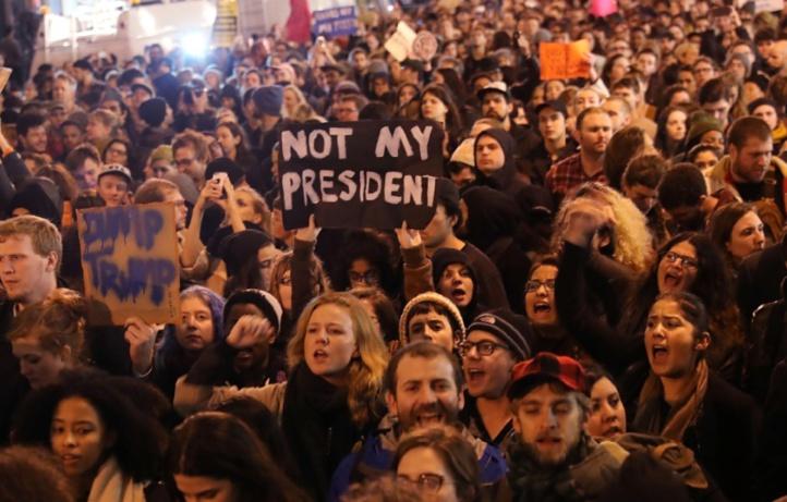Des milliers de manifestants contre la victoire de Trump