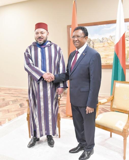 Visite de S.M le Roi à Madagascar