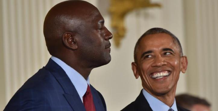 Obama fait pleurer Michael Jordan