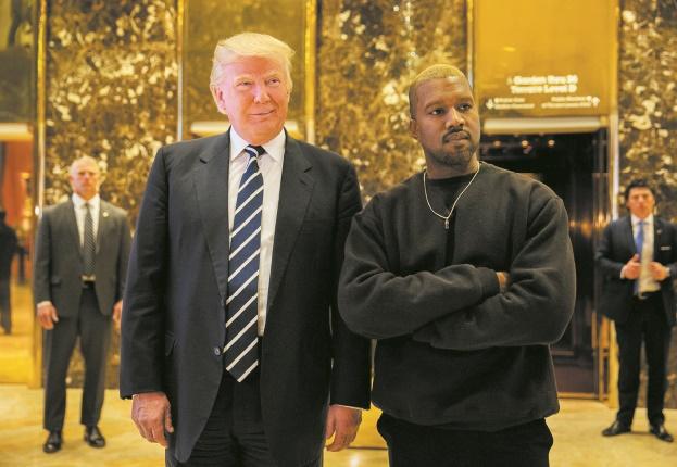 A peine sorti de l'hôpital, Kanye West reçu par Donald Trump
