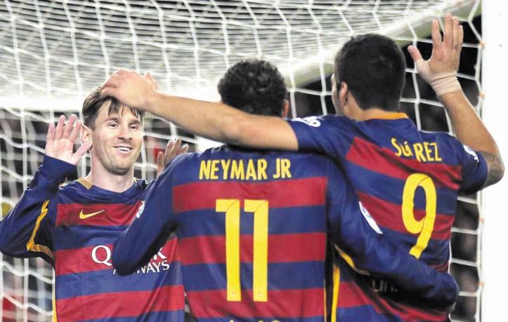 """Luis Enrique : Le trio """"MSN"""" aborde 2017 en forme"""