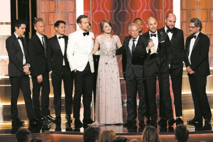 """La La Land"" grand vainqueur des Golden Globes"