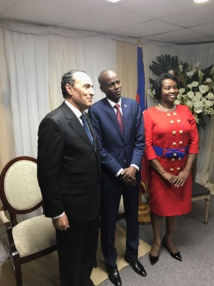 S.M le Roi représenté par Habib El Malki à l'investiture du nouveau président de Haïti