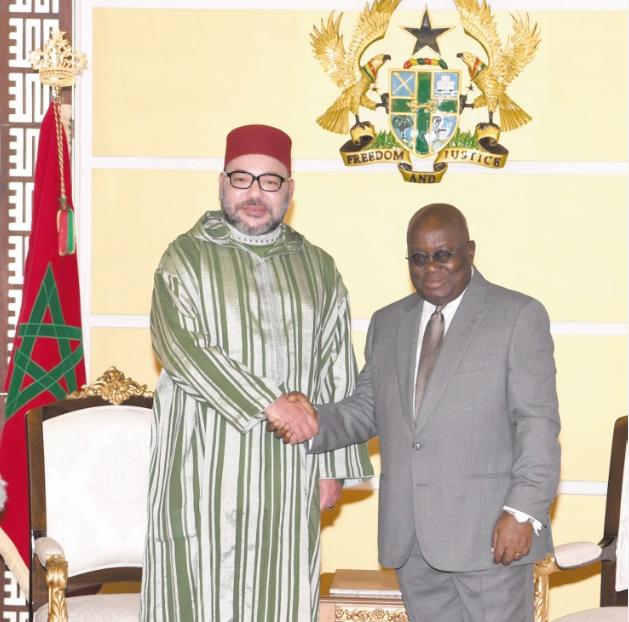 S.M le Roi  représenté par Habib El Malki aux festivités du 60ème anniversaire de l'indépendance du Ghana
