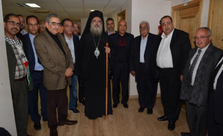 Le Premier secrétaire de l'USFP reçoit l'Archevêque en poste à Al Qods