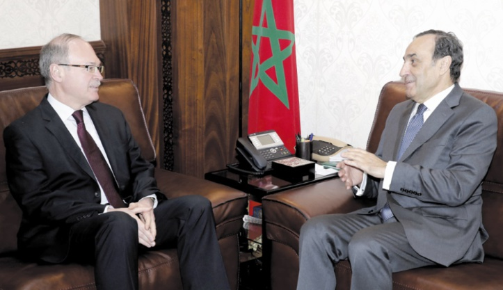 Le président de la Chambre des représentants s'entretient avec l'ambassadeur de l'Ukraine au Maroc
