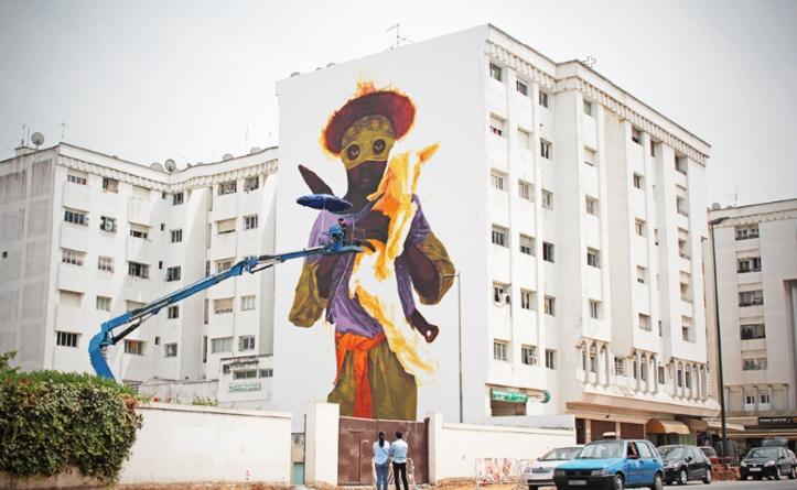 """Jidar, toiles de rue"" Rabat se pare d'atours artistiques"