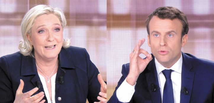Macron donné vainqueur d'un débat houleux avec Le Pen