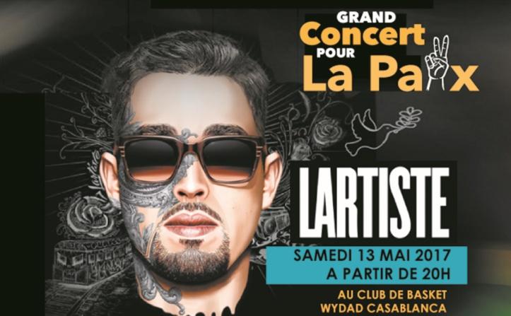 Lartiste en concert à Casablanca :  La musique au service de la bonne cause