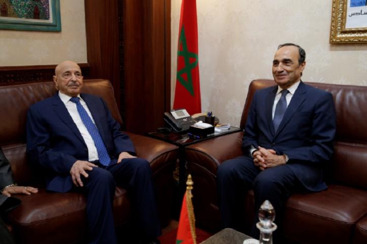 Vers la tenue d'un Forum parlementaire maroco-libyen : Entretiens à Rabat du président de la Chambre des représentants libyenne avec Habib El Malki et Nasser Bourita