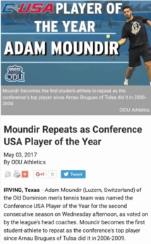 "Adam Moundir, ""The player of the year"""