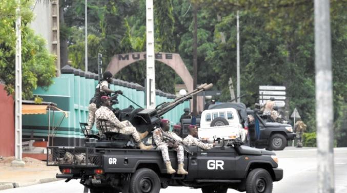 Poursuite des mutineries de soldats en Côte d'Ivoire