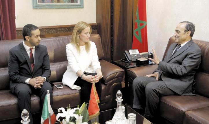Habib El Malki, Eleonora Cimbro et le député italien Khalid Chawki.