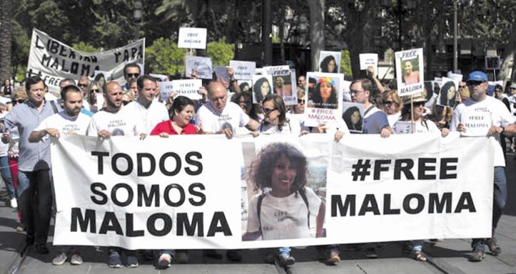 Madrid exige la libération de Maloma Morales