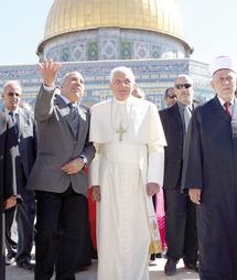 Message de paix du souverain pontife sur l'Esplanade des Mosquées et au Mur des Lamentations