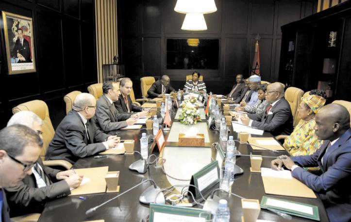 Habib El Malki s'entretient avec le président du Parlement ghanéen