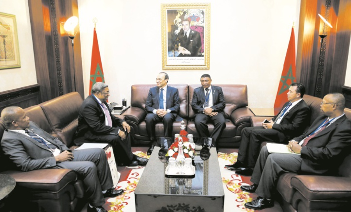Habib El Malki s'entretient avec les présidents des Assemblées nationales togolaise et malgache