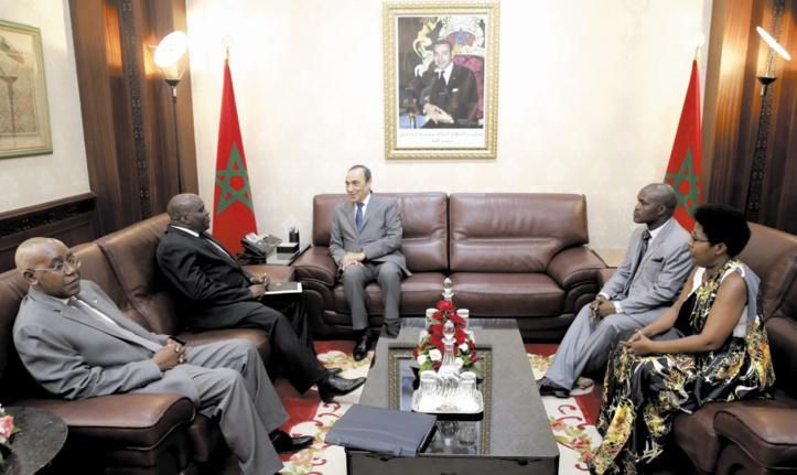 Habib El Malki s'entretient avec le président de l'Assemblée nationale du Burundi