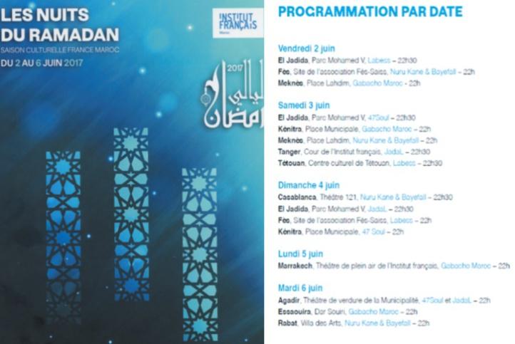Les Nuits de Ramadan de l'IF animeront onze villes marocaines