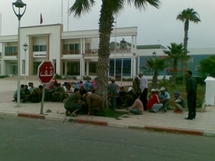 Sit-in des habitants de Sidi Kaouki