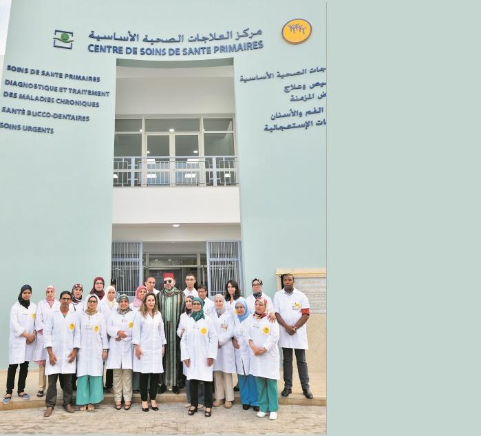 S.M. le Roi inaugure un Centre de soins de santé primaires à Sidi Othmane