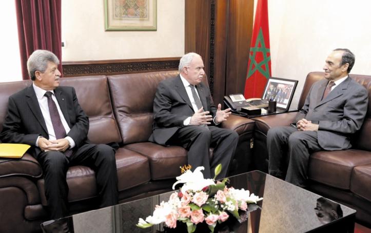 Echanges fructueux entre Habib El Malki et le chef de la diplomatie palestinienne