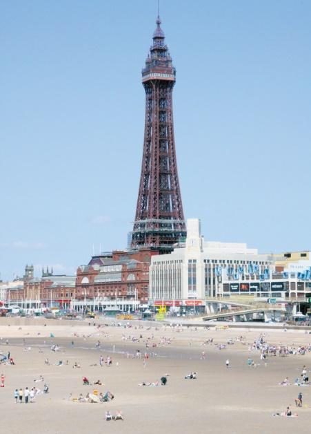 Il ne vaut pas mieux aller sur ces plages : La plage de blackpool (Grande-Bretagne)