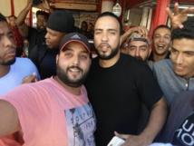 Bain de foule  à la bonne  franquette pour French Montana  à El Oulfa