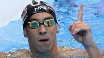 Michael Phelps défie un  requin blanc