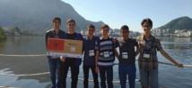 Illustration d'élèves marocains lors des Olympiades internationales de mathématiques au Brésil