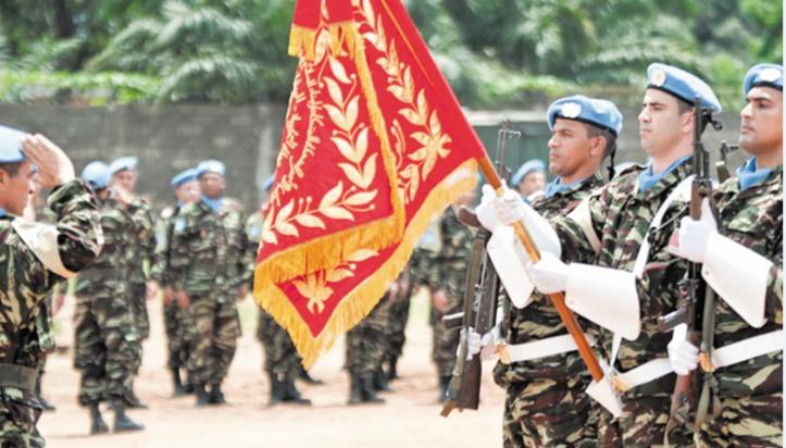 Une délégation des FAR visite les contingents marocains déployés en Centrafrique et en RDC