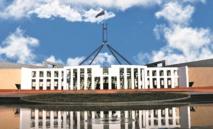 Le siège du Parlement australien.