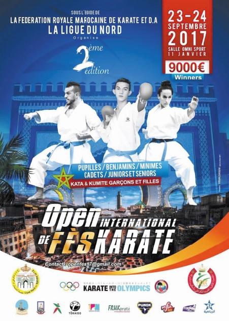 Participation massive au 2ème Open international de karaté de Fès