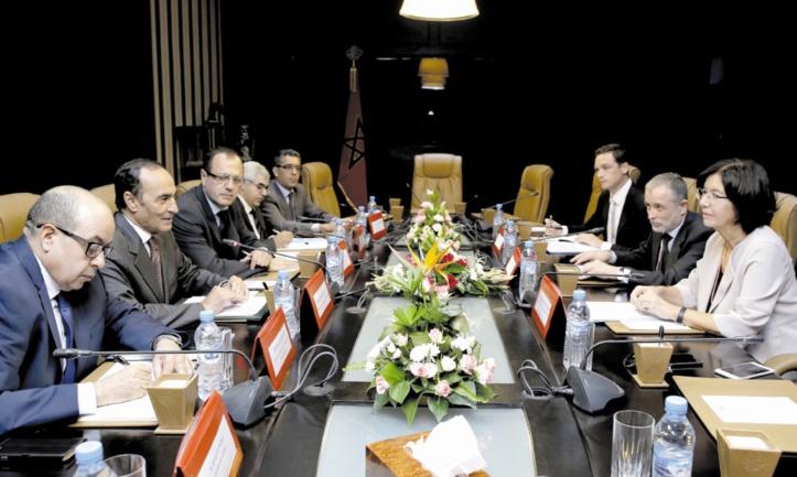 Le renforcement des relations entre le Parlement et l'OSCE au centre d'entretiens entre Habib El Malki et Christine Muttonen