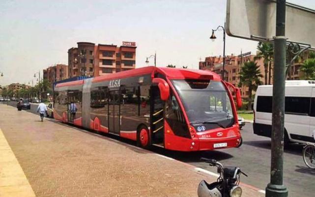Mise en circulation des bus électriques dans la ville ocre