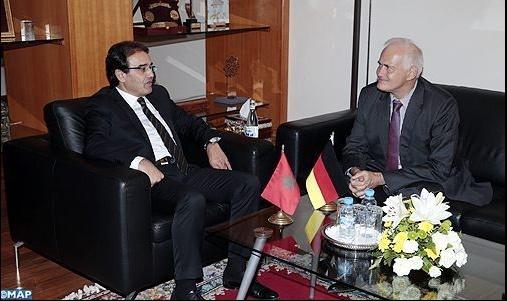 Abdelkrim Benatiq s'entretient avec l'ambassadeur d'Allemagne au Maroc