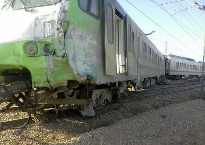 Collision entre un train et un engin tracteur