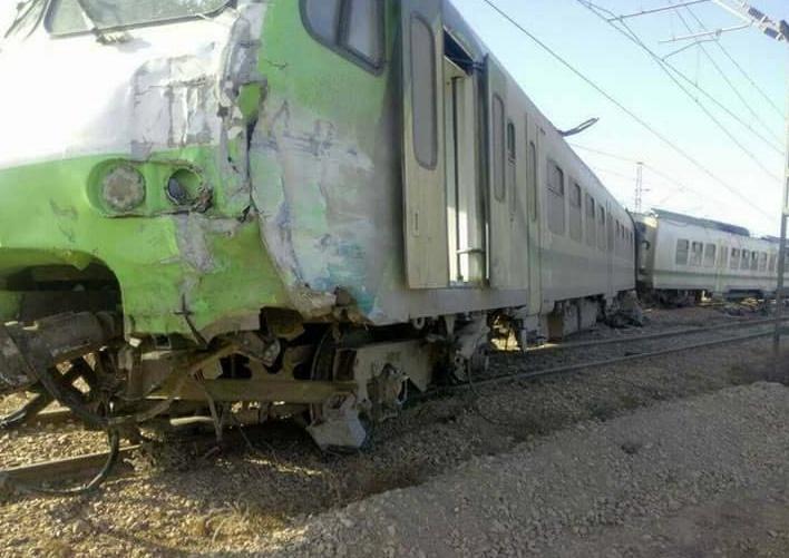 Collision entre un train et un engin tracteur