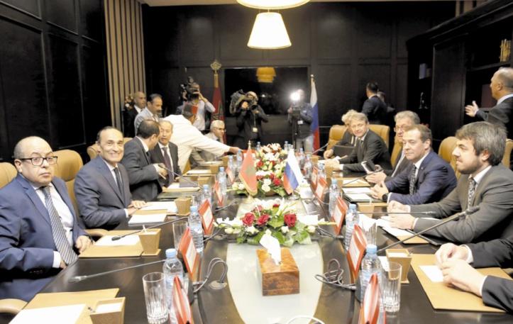 Habib El Malki s'entretient avec le Premier ministre russe