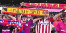 Le Barça reçu  à Madrid avec drapeaux  et chants  espagnols