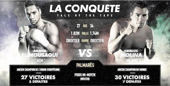 Boxe : Ahmed El Moussaoui surclasse Carlos Molina