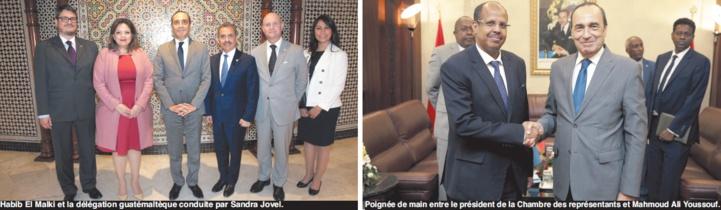 Le président de la Chambre des représentants reçoit les ministres guatémaltèque et djiboutien des Affaires étrangères