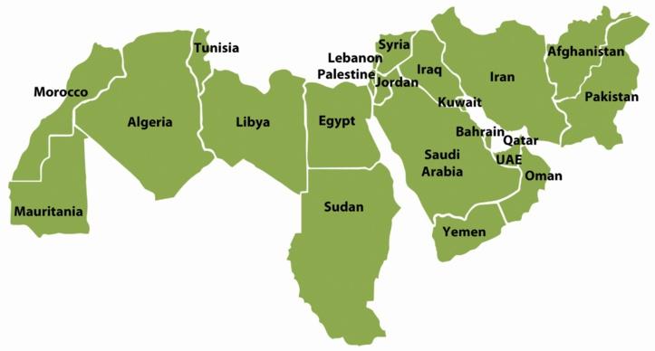Région MENA.