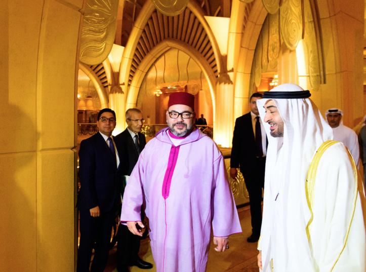 S.M le Roi reçoit le Prince Héritier d'Abou Dhabi